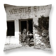The Old Whistle Stop Cafe Throw Pillow