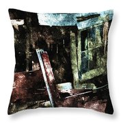 The Ghost Behind The Old Window Throw Pillow