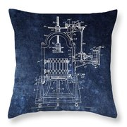 The Old Wine Press Throw Pillow