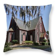 The Old Wooden Church Throw Pillow by Louise Heusinkveld
