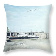 The Oldenburg At Ilfracombe Harbour Throw Pillow