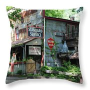 The Ole Gas Station Throw Pillow