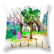 The Ole House In Spring Throw Pillow