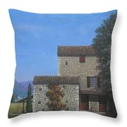 The Olive Mill Province Throw Pillow