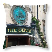 The Oliver Pub Throw Pillow