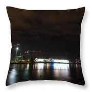 The Olympic Oval At Night Throw Pillow