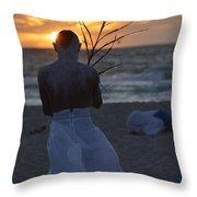 The One That Awakes The Sun II Throw Pillow