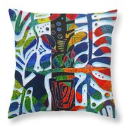The One Who Dwells In The Heart Of All Things Throw Pillow