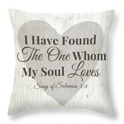 The One Whom My Sould Loves- Art By Linda Woods Throw Pillow