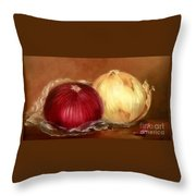 The Onions Throw Pillow