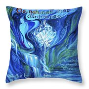 The Oonahnahmae Universe Book Cover Throw Pillow