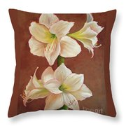 The Opening Flower Throw Pillow