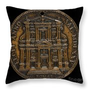 The Opening For Worship Of The Chiesa Del Gesu, Rome [reverse] Throw Pillow
