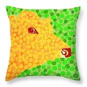 The Orange Cow Throw Pillow