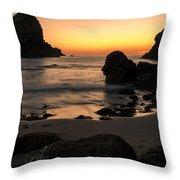 The Orange Glow At Whaleshead Throw Pillow