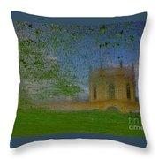 Fairytale Castle On A Meadow. Throw Pillow