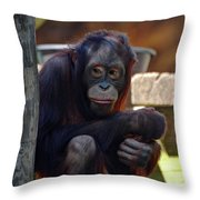 The Orangutan Throw Pillow