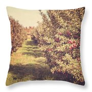The Orchard Throw Pillow by Lisa Russo