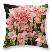 The Orchid Garden Throw Pillow