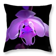The Orchid Magic Throw Pillow
