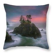 The Oregon Coast Sunset Throw Pillow