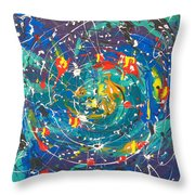 The Origin Of Life Throw Pillow