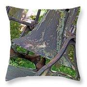 The Original Bell Of Oak Hill Cemetery Throw Pillow