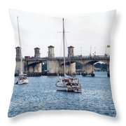 The Original Bridge Of Lions Throw Pillow