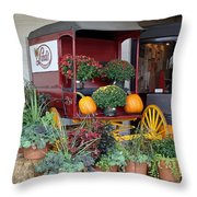 The Original Delivery Wagon Throw Pillow