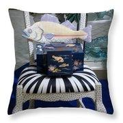 The Original Fish Chair  Throw Pillow