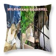 The Original Official Milkshake Squirrel Throw Pillow