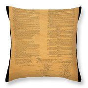 The Original United States Constitution Throw Pillow