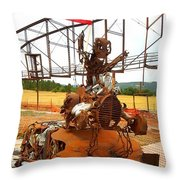 The Origional Full Throttle Saloon Throw Pillow