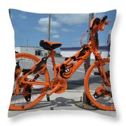 The Orioles Bicycle Throw Pillow