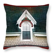The Ornamented Gable Throw Pillow