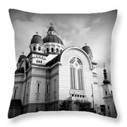 The Orthodox Cathedral And The Saint John The Baptist Church Throw Pillow