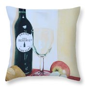 The Other Empty Glass. Throw Pillow