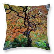 The Other Japanese Maple Tree In Autumn Throw Pillow