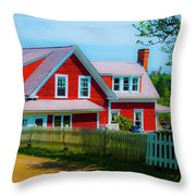 The Other Red House Monhegan Throw Pillow