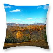 The Other Side Of The Road In Wv Throw Pillow