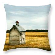 The Outhouse Throw Pillow