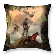 The Outside World Throw Pillow