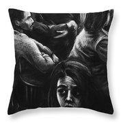 The Outsider's Restless Mind Throw Pillow
