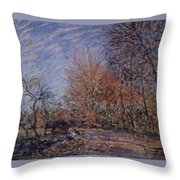 The Outskirts Of The Fontainebleau Forest Throw Pillow