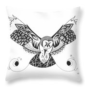 The Owl's Catch Throw Pillow