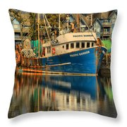 The Pacific Banker Throw Pillow