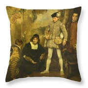 The Pages Throw Pillow
