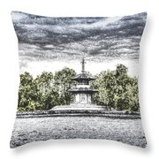 The Pagoda In The Snow Throw Pillow