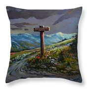 The Paintbrush Trail, Manning Provincial Park, B C Throw Pillow
