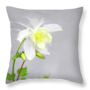 The Painted Columbine Throw Pillow